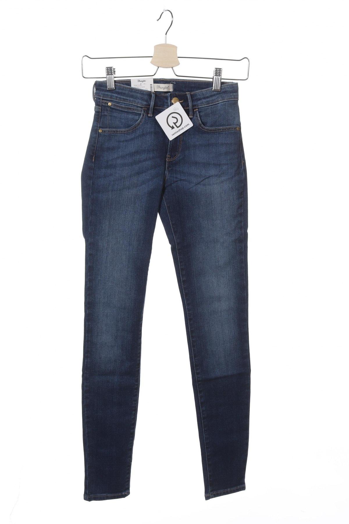 Дамски дънки Wrangler, Размер XXS, Цвят Син, 93% памук, 7% еластан, Цена 11,17лв.