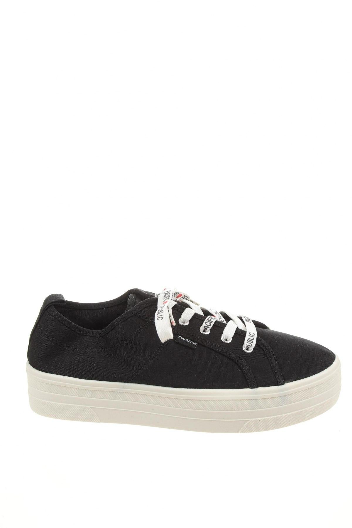 Γυναικεία παπούτσια Pull&Bear, Μέγεθος 40, Χρώμα Μαύρο, Κλωστοϋφαντουργικά προϊόντα, Τιμή 14,47€