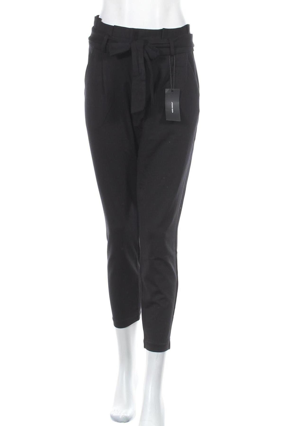 Дамски панталон Vero Moda, Размер L, Цвят Черен, 65% вискоза, 30% полиамид, 5% еластан, Цена 16,58лв.