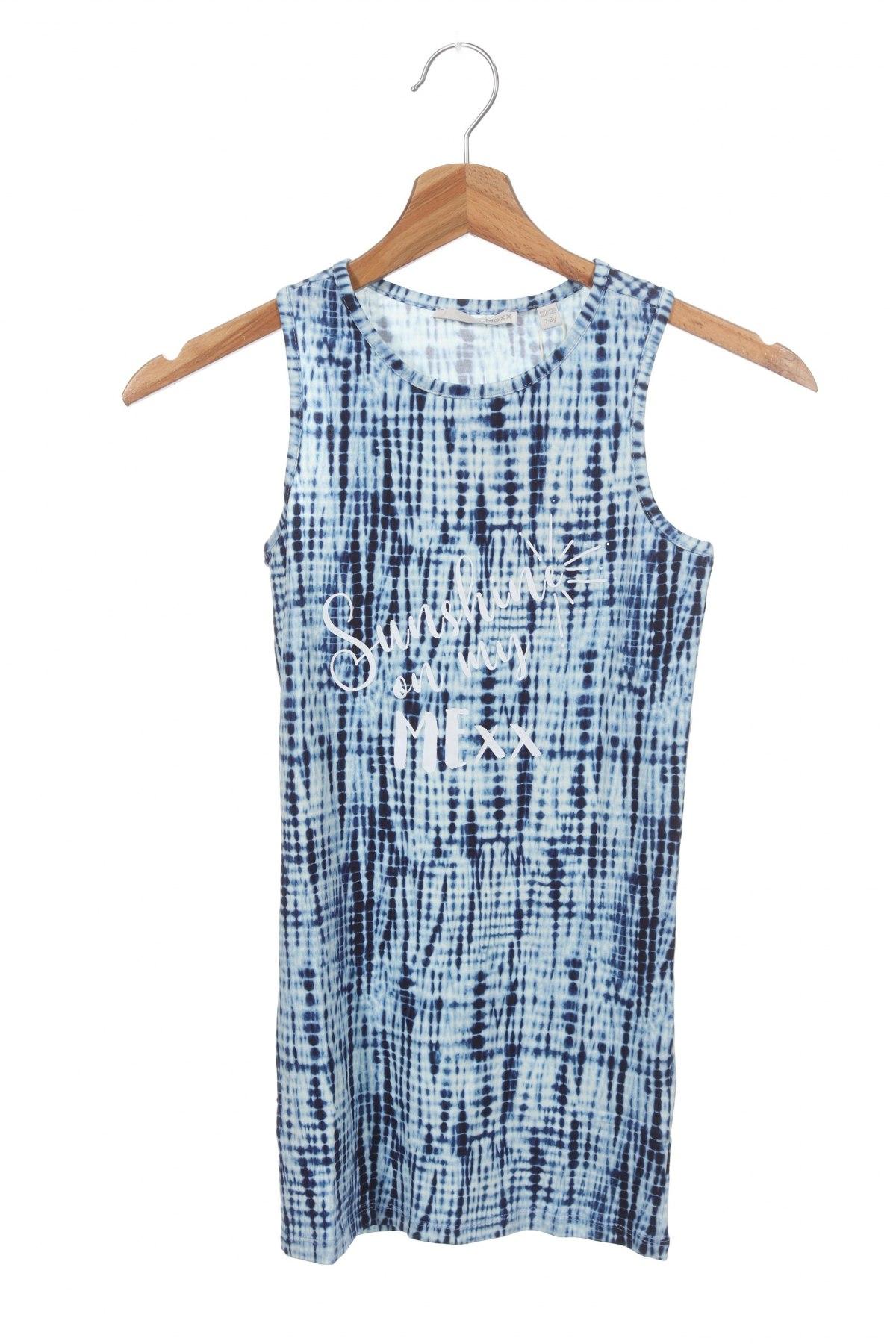 Rochie pentru copii Mexx, Mărime 6-7y/ 122-128 cm, Culoare Albastru, 95% bumbac, 5% elastan, Preț 43,13 Lei