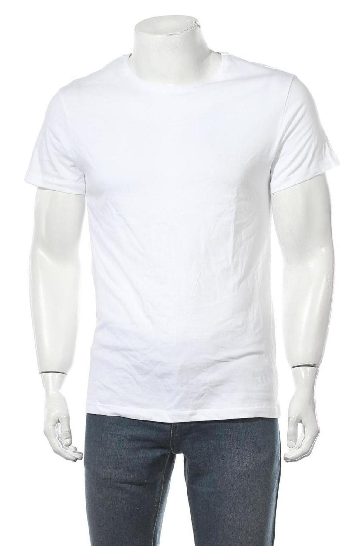 Мъжка тениска, Размер M, Цвят Бял, Цена 18,00лв.