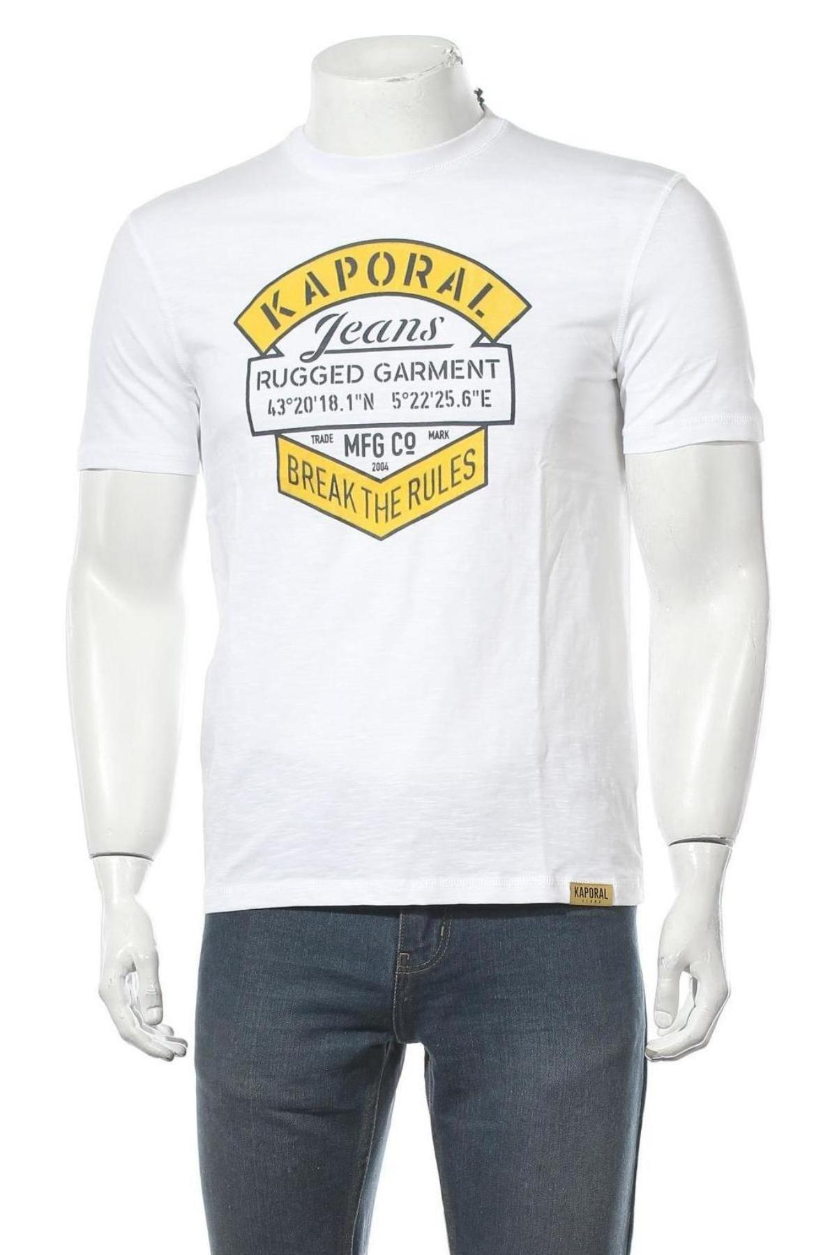 Мъжка тениска Kaporal, Размер S, Цвят Бял, Памук, Цена 21,75лв.