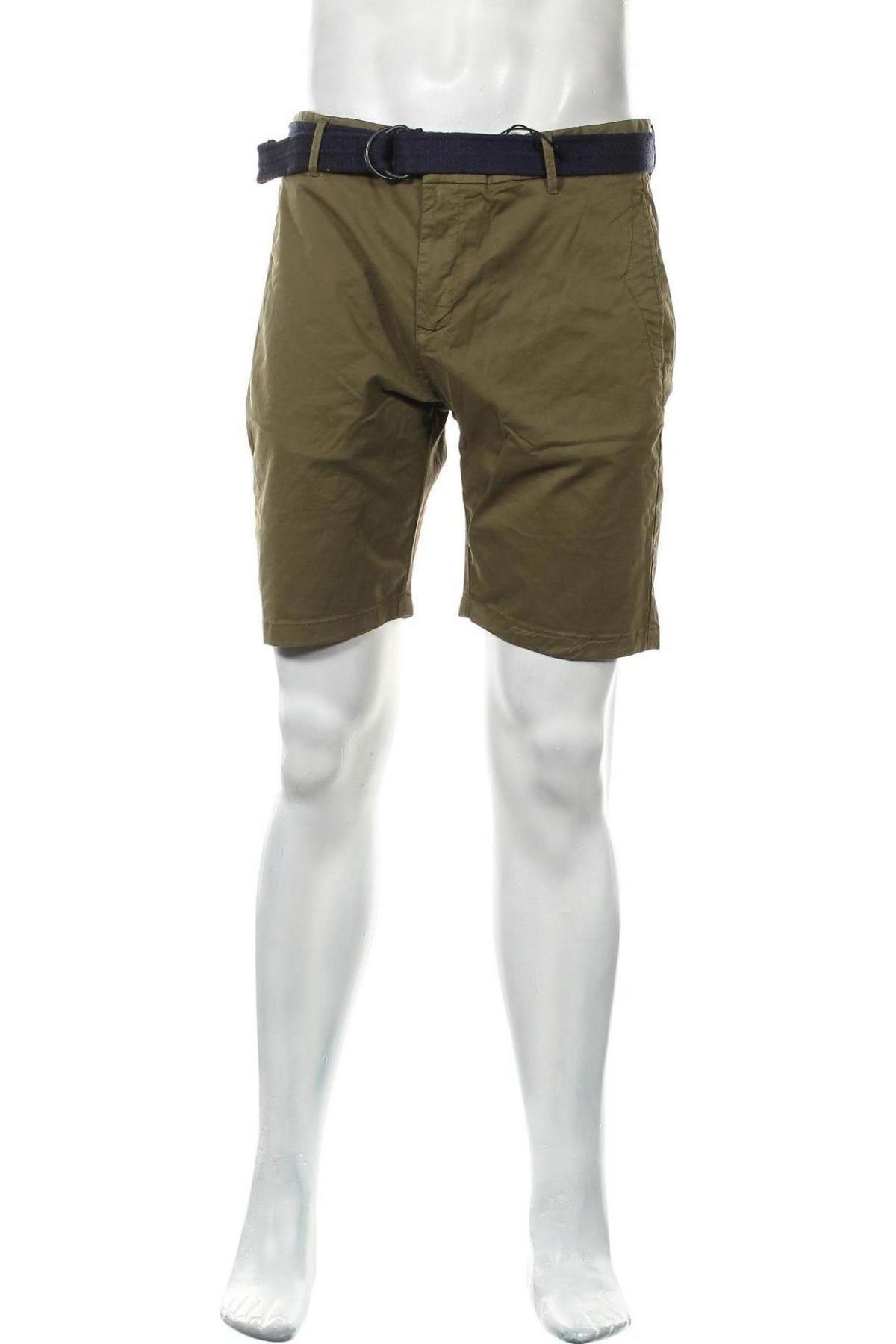 Мъжки къс панталон Dstrezzed, Размер L, Цвят Зелен, 98% памук, 2% еластан, Цена 24,51лв.