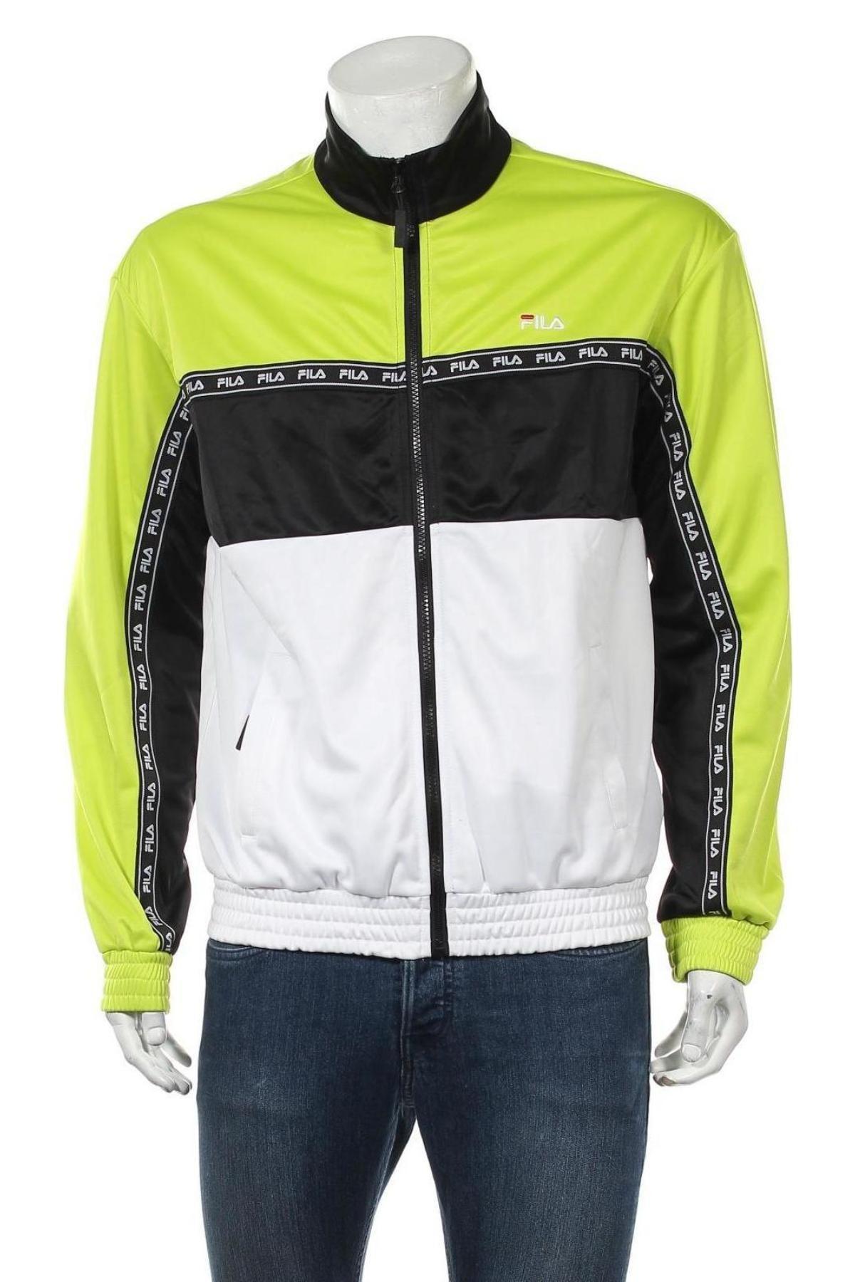Мъжко спортно горнище Fila, Размер S, Цвят Многоцветен, Полиестер, Цена 36,75лв.