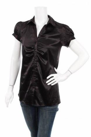 Γυναικείο πουκάμισο Andrew & Co, Μέγεθος M, Χρώμα Μαύρο, 97% πολυεστέρας, 3% ελαστάνη, Τιμή 11,34€