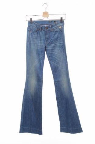 Damskie jeansy Replay, Rozmiar XXS, Kolor Niebieski, 98% bawełna, 2% elastyna, Cena 25,09zł