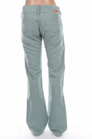 Дамски панталон Replay, Размер XS, Цвят Зелен, 55% лен, 45% памук, Цена 10,56лв.