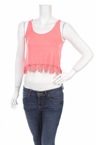 Γυναικείο αμάνικο μπλουζάκι H&M Divided, Μέγεθος XS, Χρώμα Ρόζ , 65% πολυεστέρας, 35% βισκόζη, Τιμή 2,71€