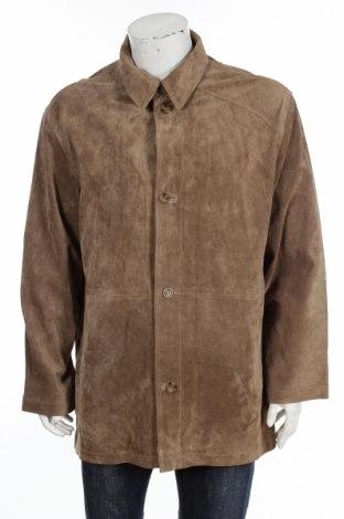Мъжко кожено яке Vantage, Размер XL, Цвят Бежов, Естествен велур, Цена 123,00лв.