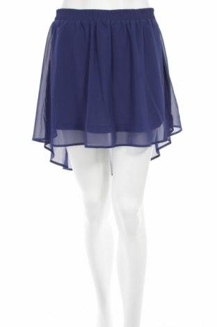 Пола Gina Tricot, Размер M, Цвят Син, 100% полиестер, Цена 6,00лв.