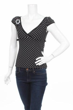 Дамска блуза Frime, Размер S, Цвят Черен, 92% вискоза, 8% еластан, Цена 7,48лв.