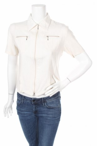 Дамска риза, Размер M, Цвят Бежов, 70% лен, 30% полиестер, Цена 6,24лв.