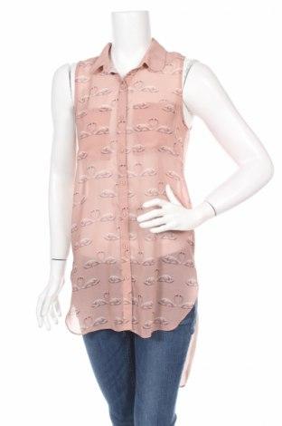 Дамска риза H&M Divided, Размер XS, Цвят Розов, Полиестер, Цена 6,50лв.