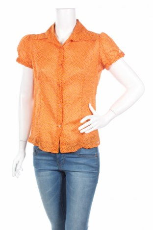 Дамска риза Mood Fashioner, Размер L, Цвят Оранжев, Памук, Цена 5,52лв.
