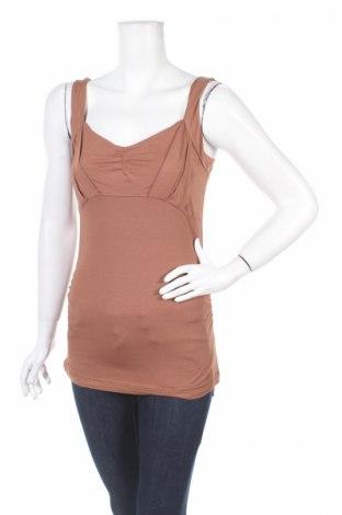 Γυναικείο αμάνικο μπλουζάκι Expresso, Μέγεθος S, Χρώμα Καφέ, 96% βισκόζη, 4% ελαστάνη, Τιμή 3,85€