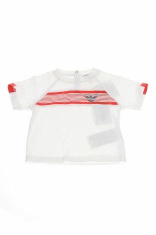 Detské tričko Armani Junior, Veľkosť 3-6m/ 62-68 cm, Farba Biela, Bavlna, Cena  17,86€