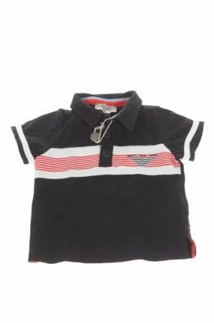 Tricou de copii Armani Junior, Mărime 3-6m/ 62-68 cm, Culoare Albastru, 92% bumbac, 8% elastan, Preț 110,00 Lei