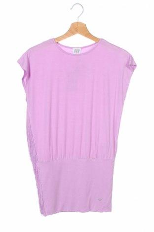 Tunică de copii Armani Junior, Mărime 7-8y/ 128-134 cm, Culoare Roz, 95% viscoză, 5% elastan, Preț 95,56 Lei