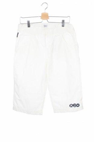 Pantaloni scurți de copii Armani Junior, Mărime 15-18y/ 170-176 cm, Culoare Alb, Bumbac, Preț 81,78 Lei