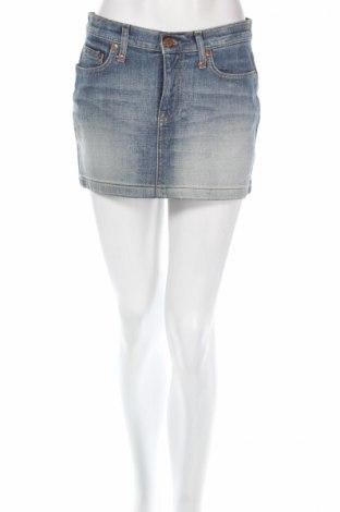 Пола H&M Divided, Размер M, Цвят Син, 98% памук, 2% еластан, Цена 24,31лв.