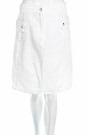 Пола Tuzzi, Размер M, Цвят Бял, 55% памук, 45% лен, Цена 10,75лв.