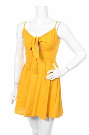 Šaty  Only, Veľkosť S, Farba Žltá, 85% bavlna, 15% ľan, Cena  11,73€