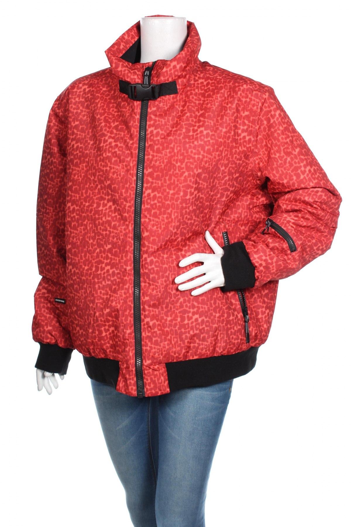 Дамско яке за зимни спортове Chiemsee, Размер XL, Цвят Червен, Полиестер, Цена 62,25лв.