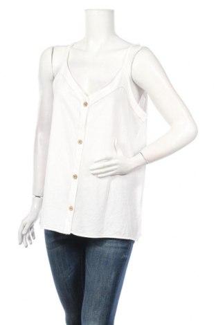 Дамска риза Yessica, Размер XL, Цвят Бял, 52% памук, 48% модал, Цена 9,88лв.