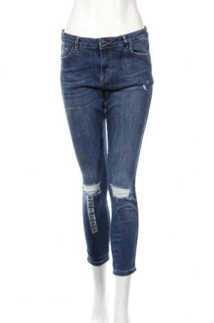 Damskie jeansy Clockhouse, Rozmiar L, Kolor Niebieski, 98% bawełna, 2% elastyna, Cena 82,50zł