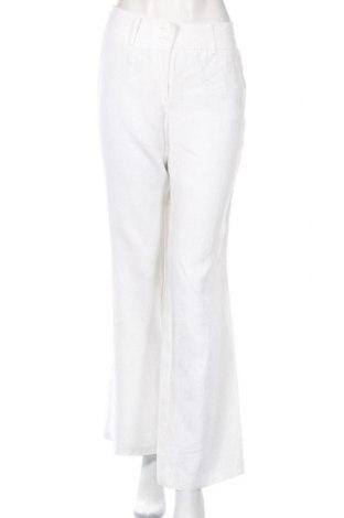 Дамски панталон Yorn, Размер M, Цвят Бял, Лен, Цена 7,18лв.