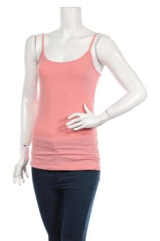 Дамски потник Review, Размер L, Цвят Розов, 47% памук, 47% модал, 6% еластан, Цена 7,00лв.