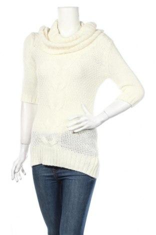 Γυναικείο πουλόβερ Fashion Club, Μέγεθος L, Χρώμα Εκρού, 78% πολυακρυλικό, 22% μεταλλικά νήματα, Τιμή 3,38€