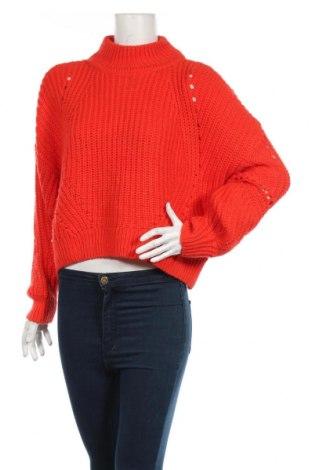 Damski sweter H&M, Rozmiar S, Kolor Czerwony, 90%akryl, 10% wełna, Cena 69,00zł