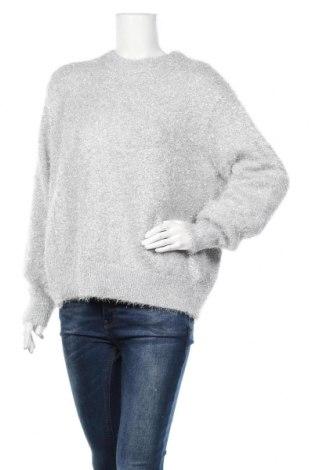 Γυναικείο πουλόβερ H&M, Μέγεθος S, Χρώμα Γκρί, 76% πολυεστέρας, 24% μεταλλικά νήματα, Τιμή 20,13€