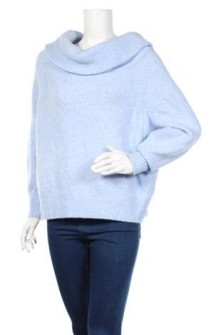 Damski sweter H&M, Rozmiar S, Kolor Niebieski, 62%akryl, 28% poliamid, 8% wełna, 2% elastyna, Cena 87,00zł