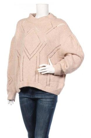 Γυναικείο πουλόβερ H&M, Μέγεθος M, Χρώμα  Μπέζ, 54%ακρυλικό, 26% πολυαμίδη, 11% άλλα υλικά, 9% μαλλί, Τιμή 14,94€