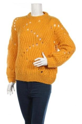 Damski sweter Minimum, Rozmiar S, Kolor Żółty, 55%akryl, 30% poliamid, 10% wełna, 5% moher, Cena 138,00zł