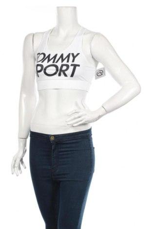 Дамски спортен топ Tommy Hilfiger, Размер M, Цвят Бял, 75% полиестер, 25% еластан, Цена 50,40лв.