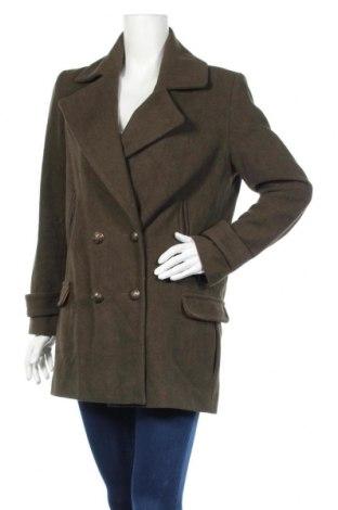 Дамско палто Atmosphere, Размер M, Цвят Зелен, 86% полиестер, 5% акрил, 4% памук, 3% вискоза, 2% вълна, Цена 81,90лв.