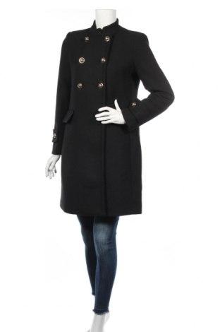 Dámsky kabát  Mango, Veľkosť M, Farba Čierna, 60% polyester, 30% vlna, 5%acryl , 3% polyamide, 2% viskóza, Cena  59,79€