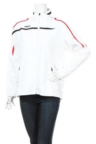 Дамско спортно яке Jako, Размер L, Цвят Бял, Полиестер, Цена 31,60лв.