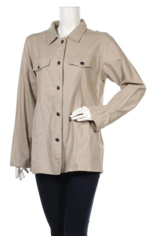 Дамско яке Casual Woman, Размер L, Цвят Бежов, 55% лен, 45% памук, Цена 7,40лв.
