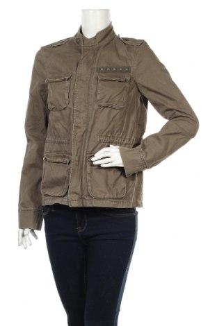 Дамско яке Gina Tricot, Размер M, Цвят Зелен, Памук, Цена 7,82лв.