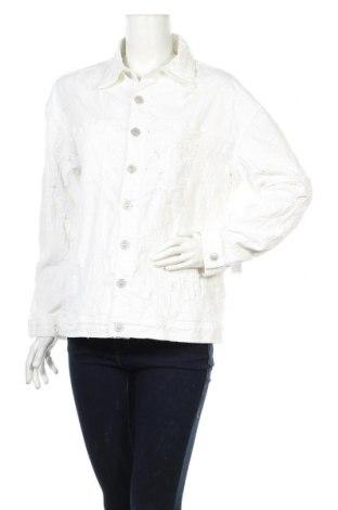 Дамско яке Hudson, Размер S, Цвят Бял, 97% памук, 3% еластан, Цена 19,20лв.