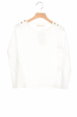 Детска блуза, Размер 6-7y/ 122-128 см, Цвят Бял, 80% памук, 20% полиестер, Цена 14,31лв.