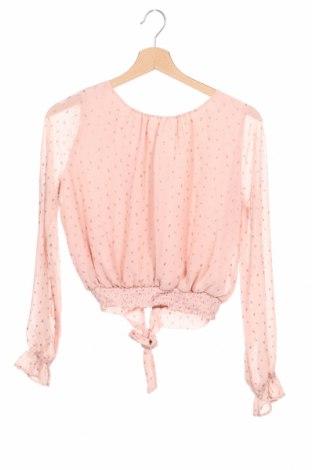Детска блуза H&M, Размер 12-13y/ 158-164 см, Цвят Розов, Полиестер, Цена 5,67лв.
