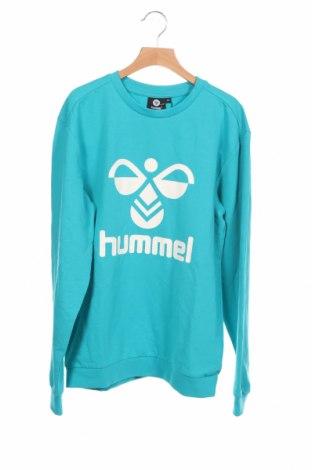 Детска блуза Hummel, Размер 12-13y/ 158-164 см, Цвят Син, 60% памук, 38% полиестер, 2% еластан, Цена 36,00лв.