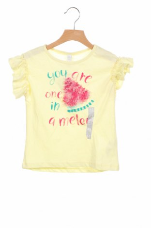 Детска блуза Lefties, Размер 3-4y/ 104-110 см, Цвят Жълт, Памук, Цена 17,25лв.