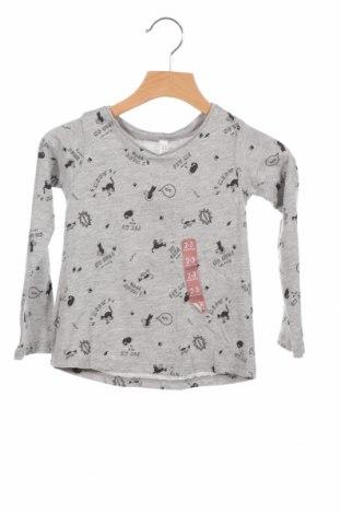Детска блуза Lefties, Размер 18-24m/ 86-98 см, Цвят Сив, Памук, Цена 17,25лв.