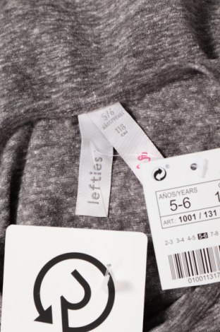 Детска блуза Lefties, Размер 5-6y/ 116-122 см, Цвят Сив, 50% полиестер, 38% памук, 12% вискоза, Цена 11,20лв.